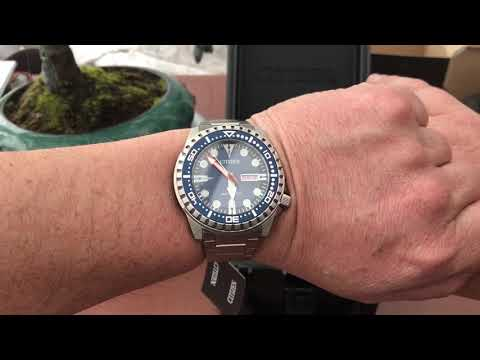 Citizen Automatic Sports Dive Watch Unboxing & Review - NH8381-63L