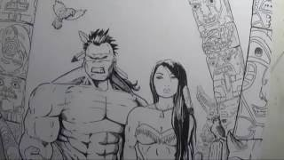 Drawing A Native American Hulk/She-Hulk (Request) By Gregory Krazed