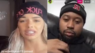 DJ Akademiks EX Girlfriend Celina Powell Exposes Him After Jail Release On Instagram Live 😂