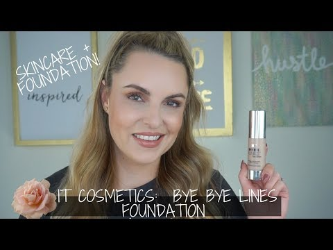 IT Cosmetics Bye Bye Lines Foundation Review + Demo - Mature Skin - Elle Leary Artistry - 동영상
