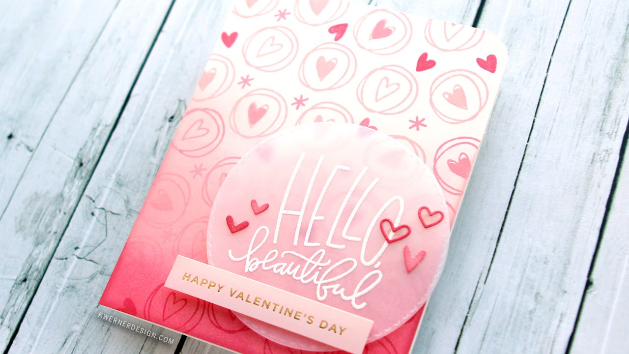 Another Easy Valentines Day Card Using a Card Kit YouTube – Youtube Valentines Day Cards