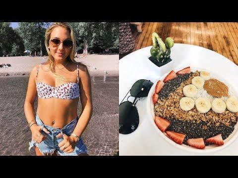 SUMMER WEEKEND IN MY LIFE VT: beach, shopping + acai! thumbnail