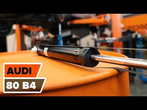 Wie AUDI 80 B4 Stoßdämpfer hinten wechseln TUTORIAL | AUTODOC