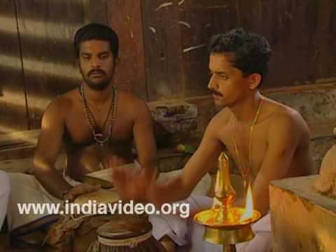 Mizhavu training in Kutiyattam - drumming for a demoness