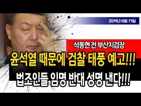 윤석열 임명하면 문재인도 태풍 맞는다!!! (석동현 전 부산지검장) / 신의한수
