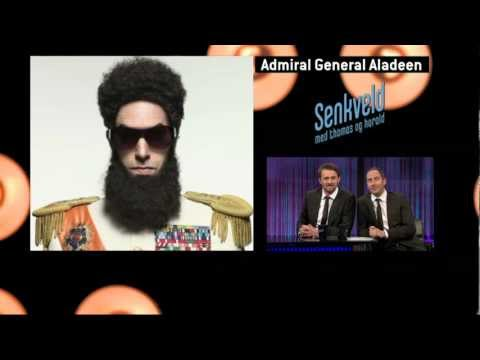 «Senkveld with Thomas and Harald» interviews Admiral Aladeen (Sacha Baron Cohen)