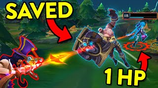 INCREDIBLE HERO MOMENTS... T๐p 50 AMAZING SAVES - League of Legends