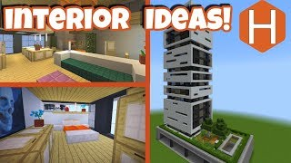 higrise apartment #1 interior Design Ideas Minecraft Tutorial