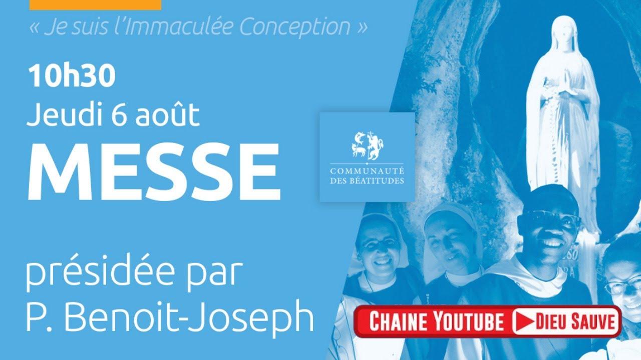 Messe en direct de Lourdes avec la communauté des Béatitudes