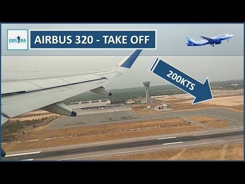 Fastest TAXI and Take off By Indigo Airbus 320 At RGIA, Hyderabad