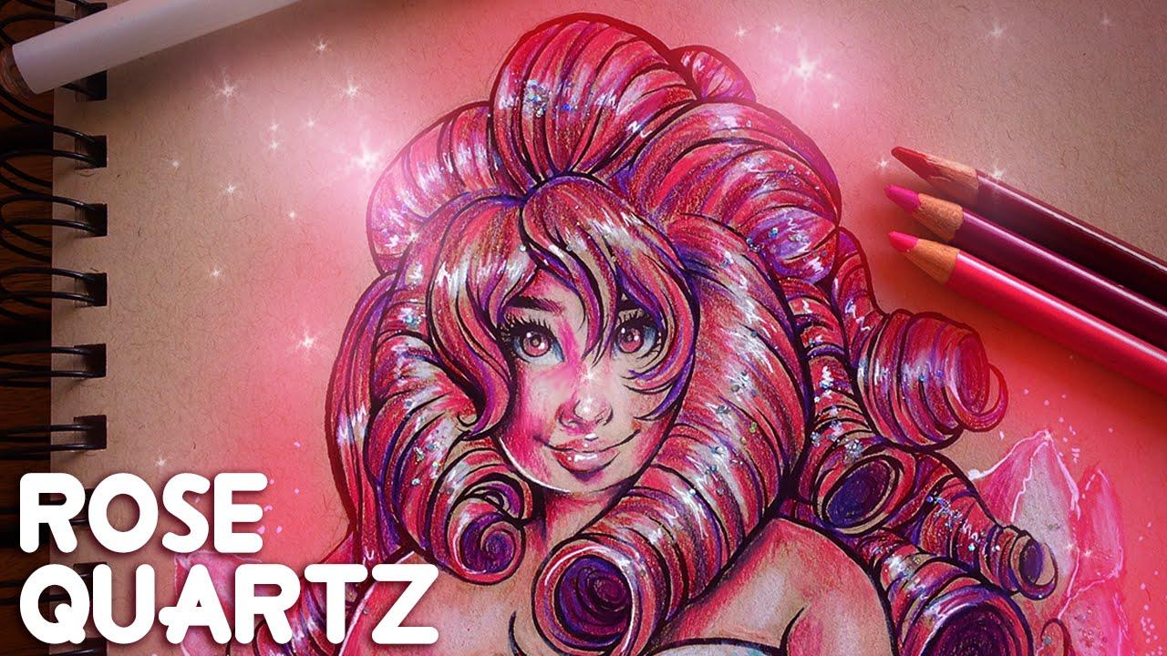 ROSE QUARTZ Drawing | Steven Universe Fanart | Jenna ...