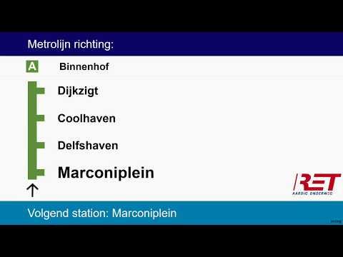 [RET Metro Rotterdam] Omroepen Lijn A Pernis - Schiedam Centrum - Binnenhof