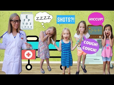 Pretend Toy Doctor Helps 4 Silly Kids !!!