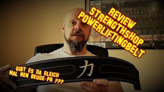 Review Strengthshop Powerlifting Belt - Gleich mal nen PR damit beugen?