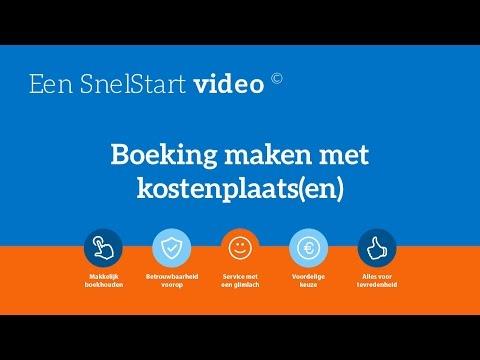 Een boeking maken met kostenplaatsen video