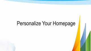 Personalize homepage in Dynamics GP 2013 how to