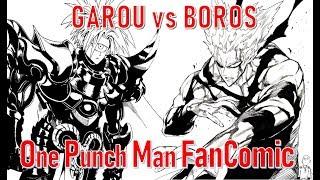 Garou vs  Boros - One Punch Man Fancomic (WebComic)