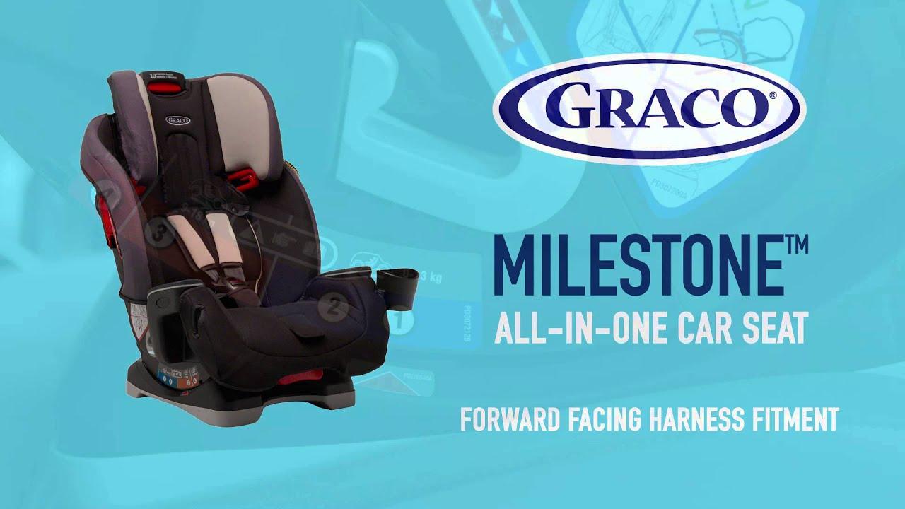 Graco Milestone Group 0-1-2-3 Car Seat in Aluminium - YouTube