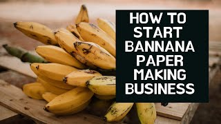 How To Start Banana Paper Making Business