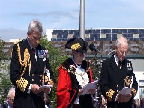 Gosport commemorates the Falklands 35th Anniversary in the Falkland Gardens