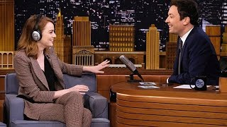 Emma Stone Hilariously Fails The 'Singing Whisper Challenge' On 'The Tonight Show'