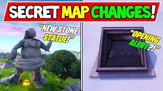 "TOUS LES CHANGEMENTS MAP DE FORTNITE FORTNITE - V7.20! - ""FEMALE STATUE"" - ""ICE CRACKED"" (Saison 7 Storyline)"