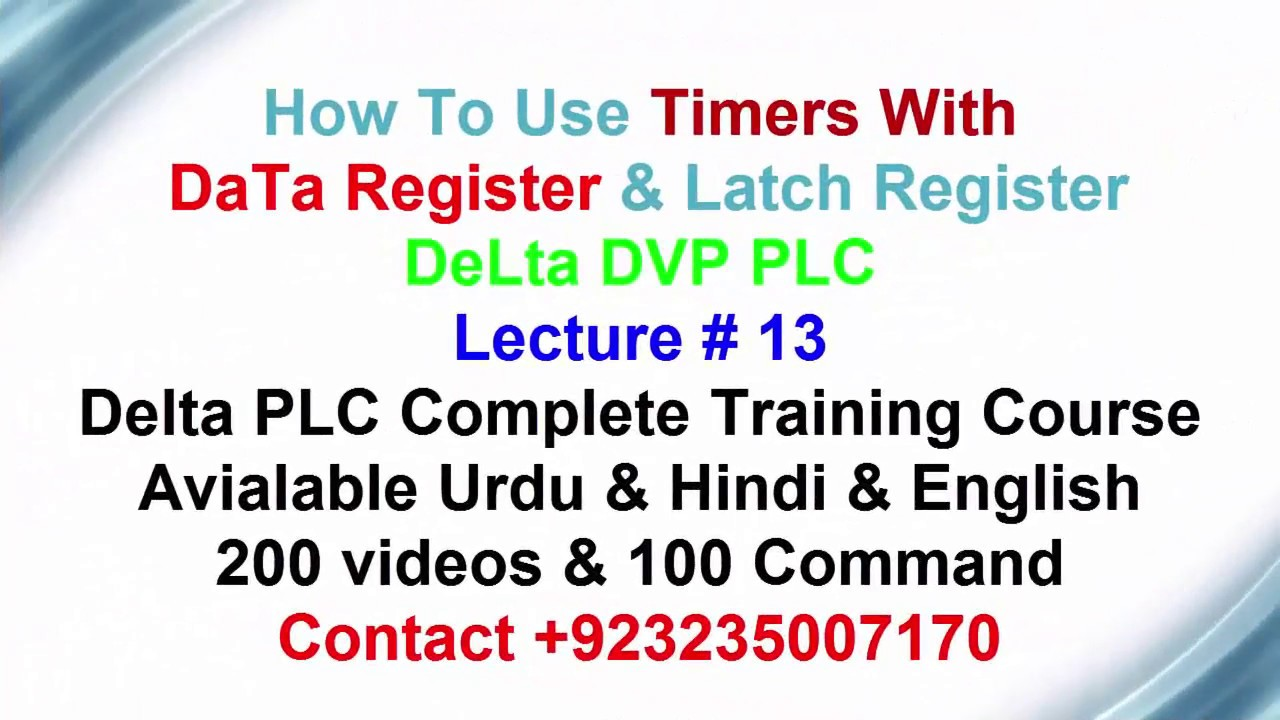 how to use timer with data register DELTA DVP PLC veriable timer  introduction urdu hindi lecture 13