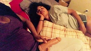 Lesbian Strap On Prank! Giving Bae The D In Her Sleep 😴