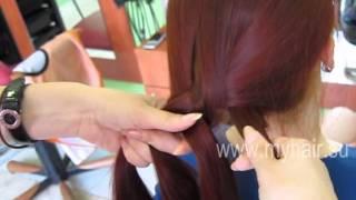 Коса из 4 (четырех) прядей