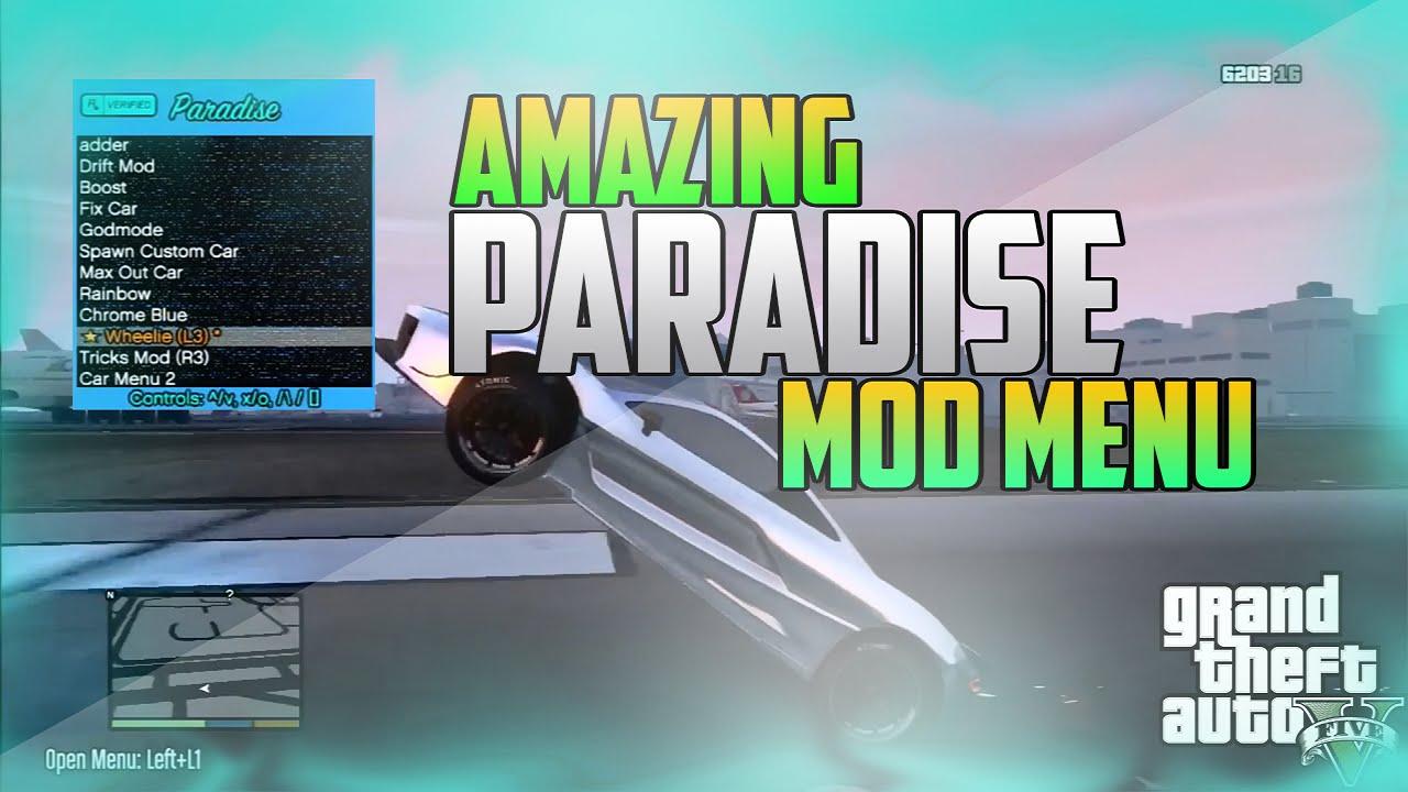 Paradise Mod Menu Ps3