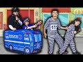 CRIANÇA Finge Brincar Ser POLICIAL 9 - KIDS PRETEND PLAY WITH POLICE COSTUME