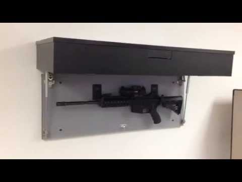 Concealed Gun Cabinets   Assault Rifle Cabinet With Biometric Lock