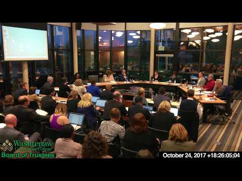 2017 10 24 WCC Board of Trustees monthly meeting