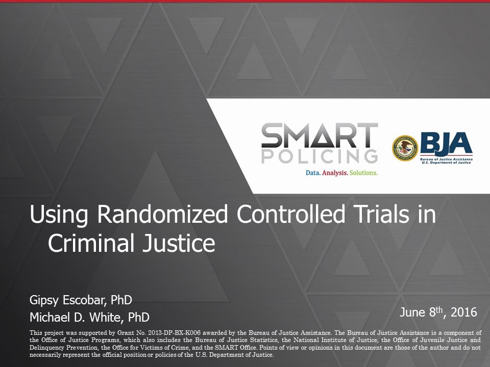 using randomized controlled trials in criminal justice webinar youtube - Criminal Research Specialist