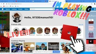 Im playing in Roblox( Robux giveaway-160RB)