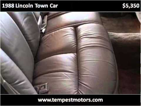 1988 Lincoln Town Car Used Cars Akron Oh Youtube