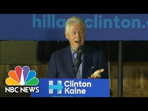 Protesters Continue To Plague Bill Clinton's Events | NBC News