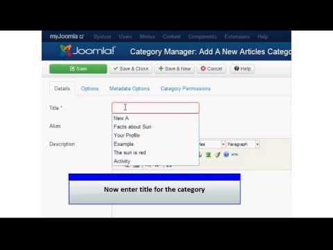 Joomla 3 0   Add New Category x264