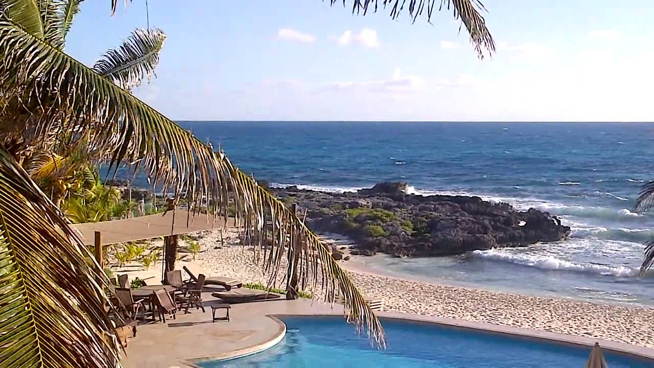 Balcony Ocean View Hotel Playa La Media Luna Isla Mexico