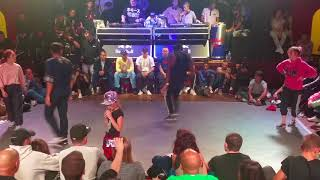 Battle Authentic 8 Bboy Spin & Bgirl Vanessa vs HDMI Team
