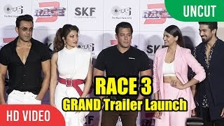 RACE 3 GRAND Trailer Launch   FULL HD Video   Salman Khan, Jacqueline, Bobby Deol