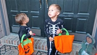 Hand out candy