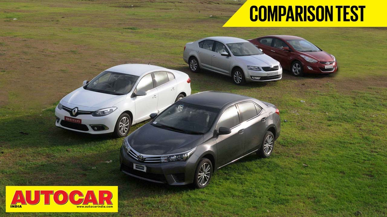 New Corolla Altis Vs Skoda Octavia Kapasitas Oli Grand Avanza 2014 Toyota Hyundai Elantra Renault Fluence Comparison Test Youtube