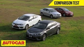 2014 Toyota Corolla vs Skoda Octavia vs Hyundai Elantra vs Renault Fluence | Comparison Test
