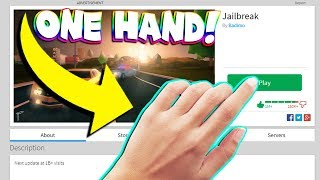 ONE HAND JAILBREAK CHALLENGE! (Roblox)
