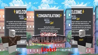 all the roblox battle arena event leaks so far!!!!11