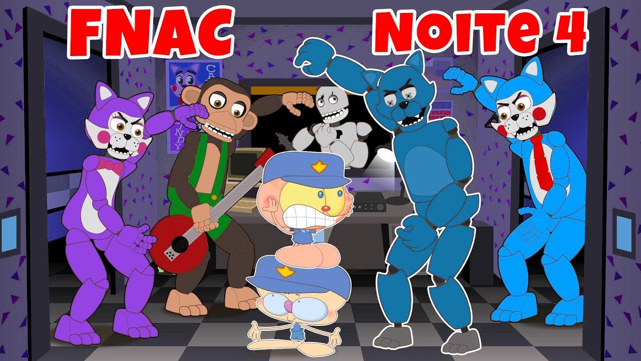 Mongo e Drongo em Five Nights At Candy's - Noite 4 - FNAC em desenho animado