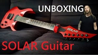 Unboxing Solar A2.6 Trans Blood Red Guitar (60fps)