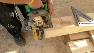 Cutting a Big Timber with a Prazi Beam Saw