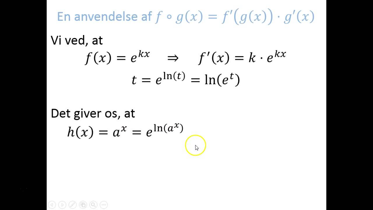 Regneregler - Anvendelse: h(x) = a^x